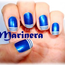 Nail Friday Marinera marine manicure manicura Silvia Quiros SQ Beauty