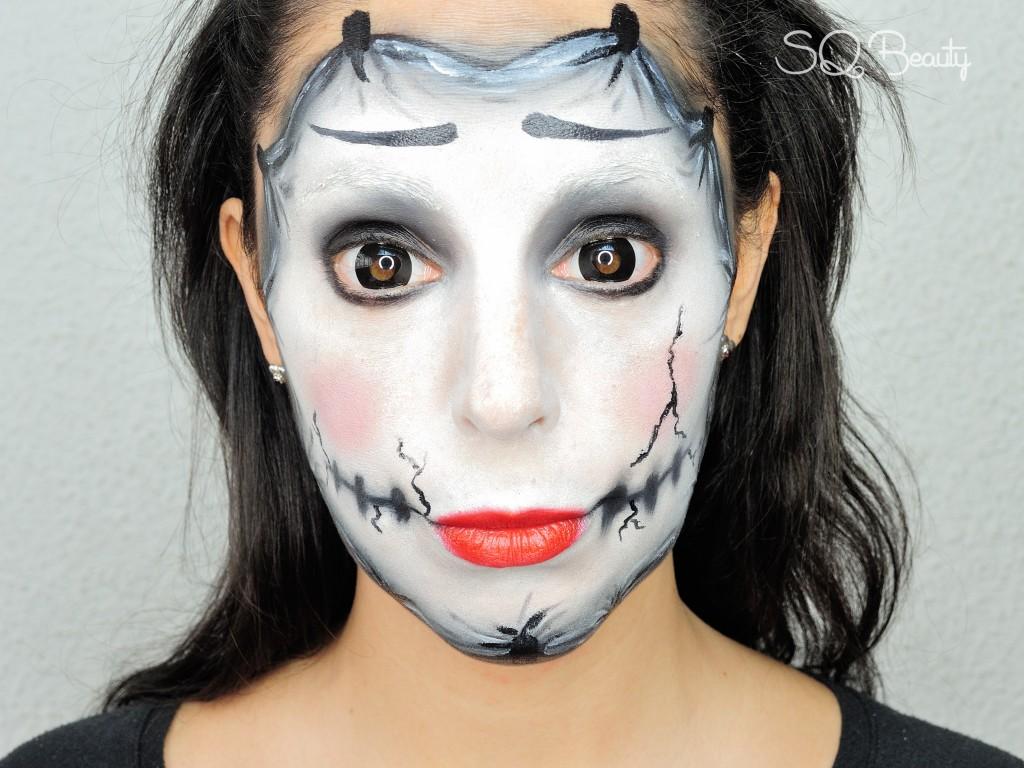 Maquillaje caMask mime makeupreta de mimo