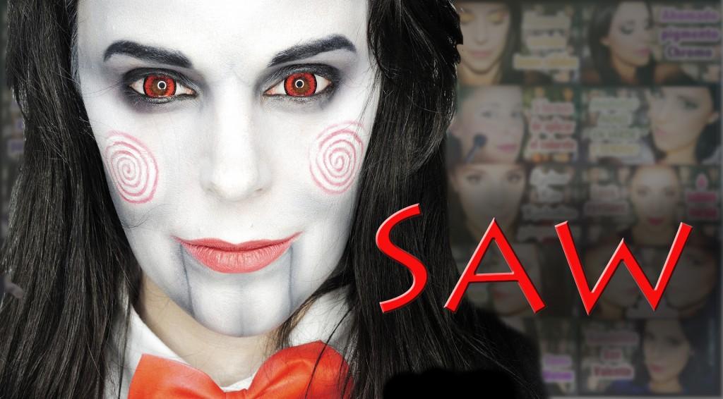Maquillaje Jigsaw de Saw Makeup Silvia Quiros SQ Beauty
