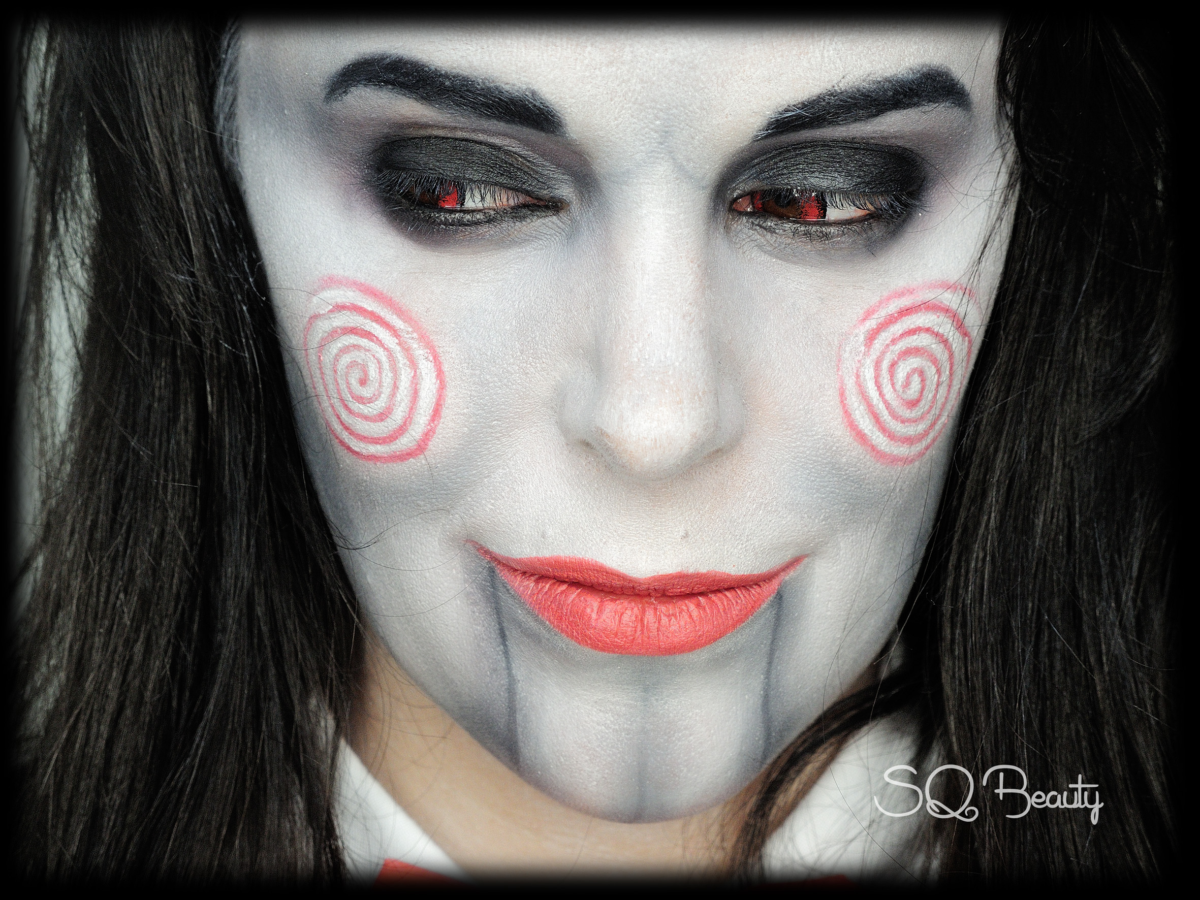 Maquillaje Jigsaw de Saw Makeup Silvia Quiros SQ Beauty