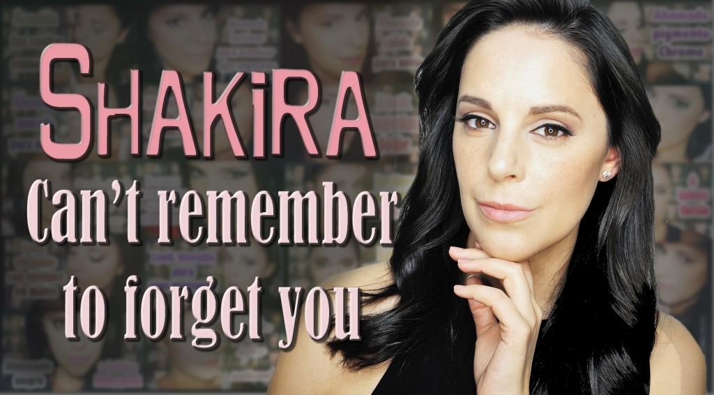Maquillaje y peinado de Shakira en Can't Remember to forget you Makeup Silvia Quiros SQ Beauty