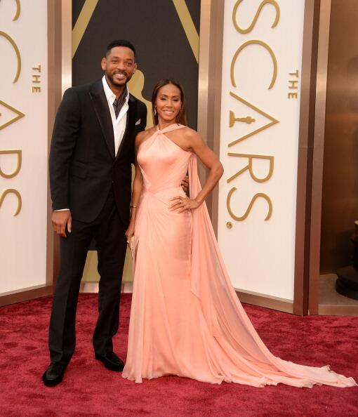 Will Smith y Jada Pinkett Smith Versace