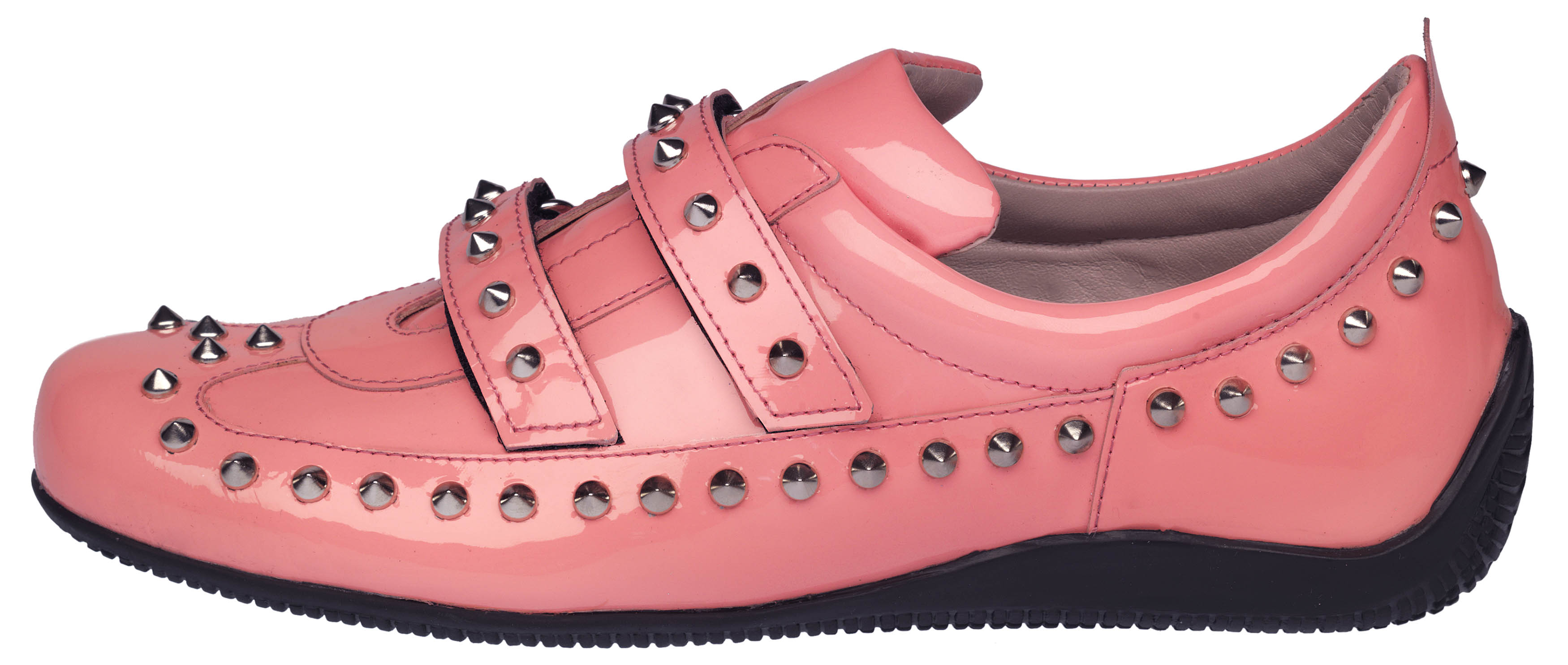 Denise studded pink patent - side