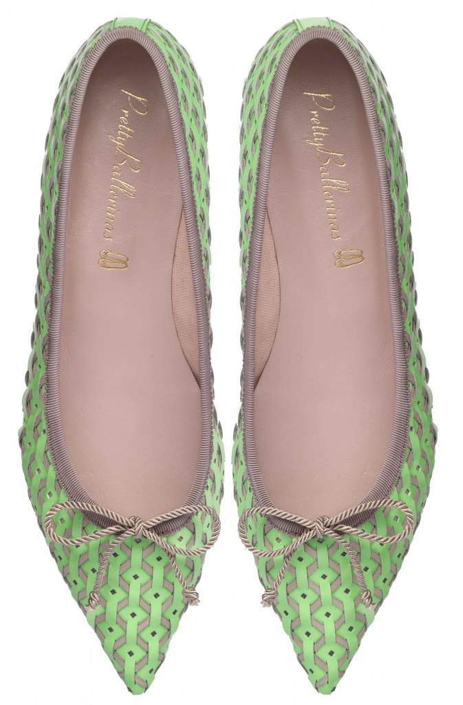 Ella mint and beige weave - pair