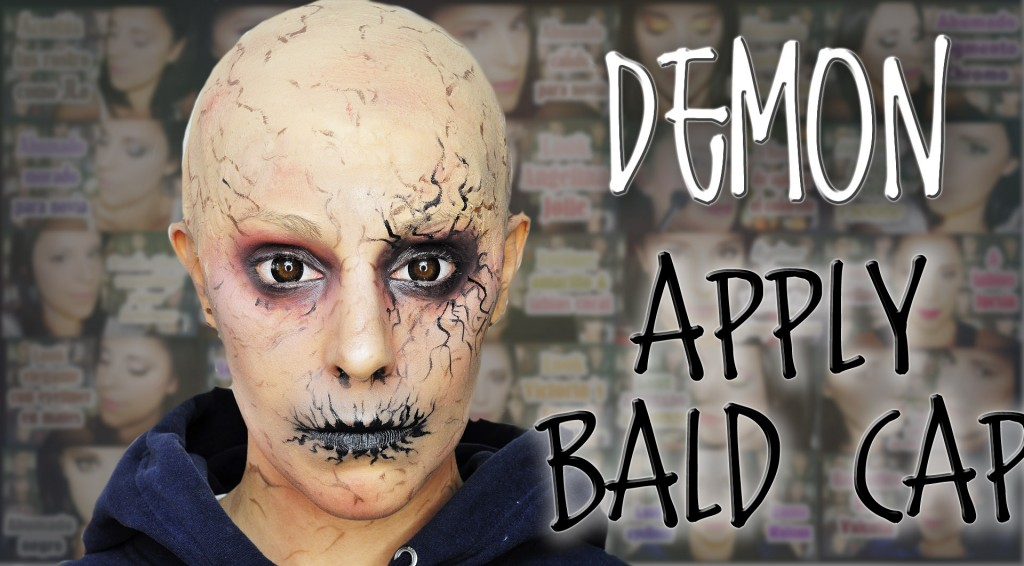 Demon makeup and how to apply bald cap