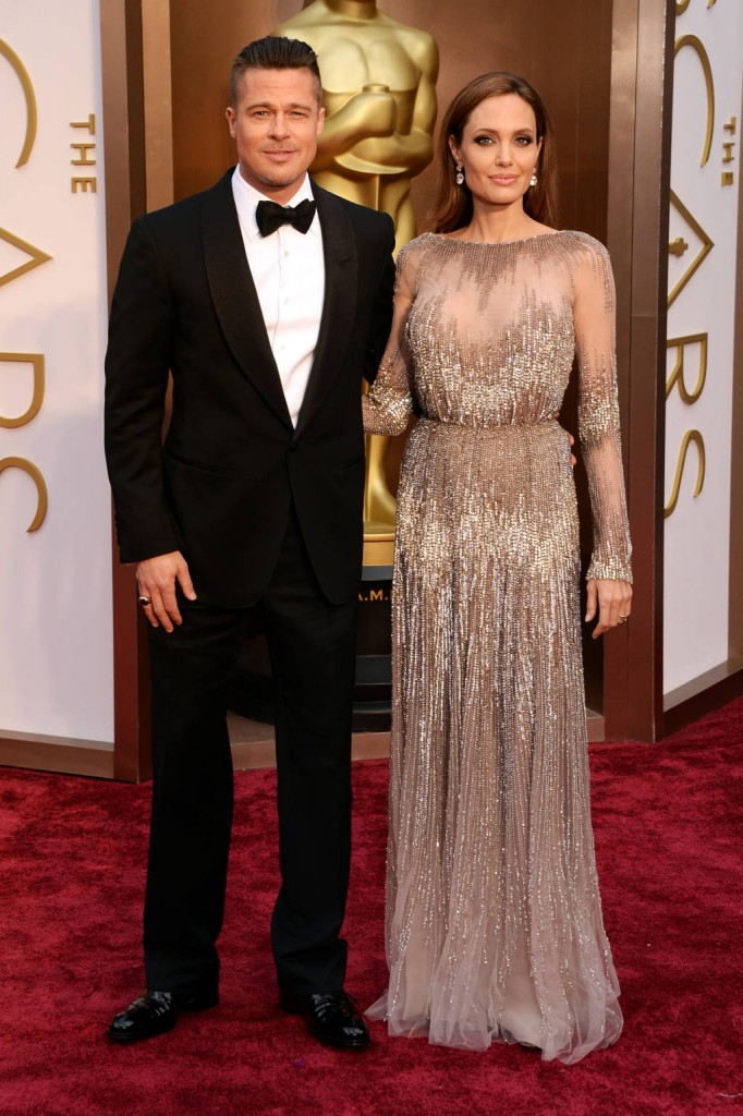 Brad Pitt y Angelina Jolie de Elie Saab Couture