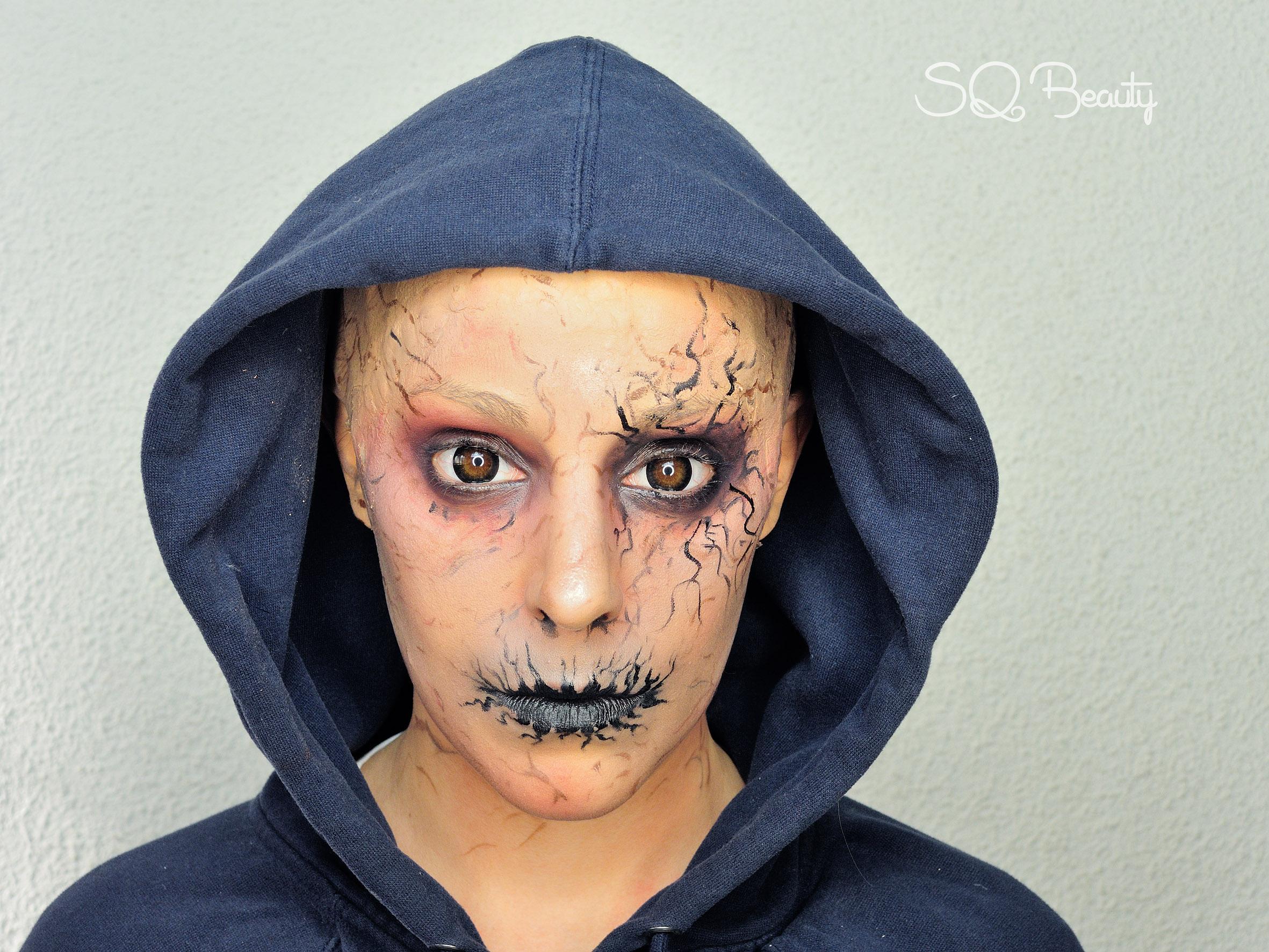 maquillaje demonio y como aplicar calva - Maquillaje Demonio