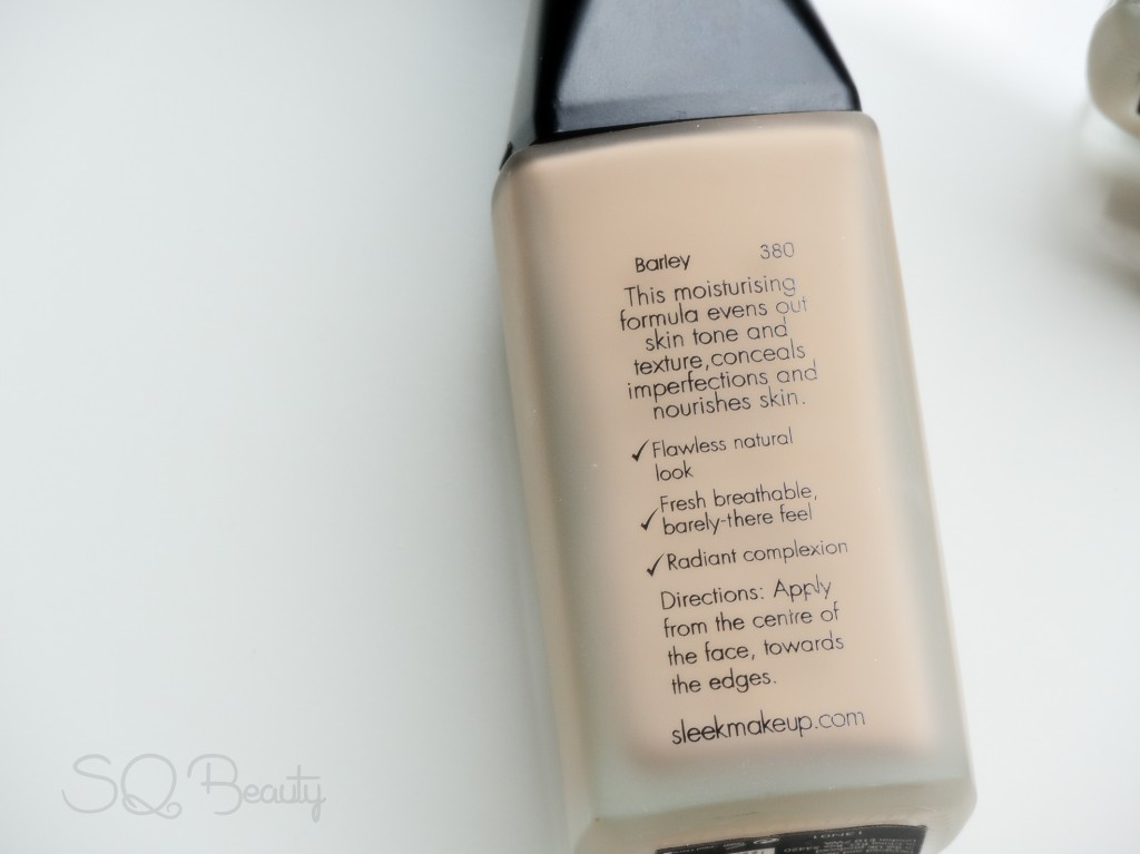 Bare skin foundation de Sleek Makeup