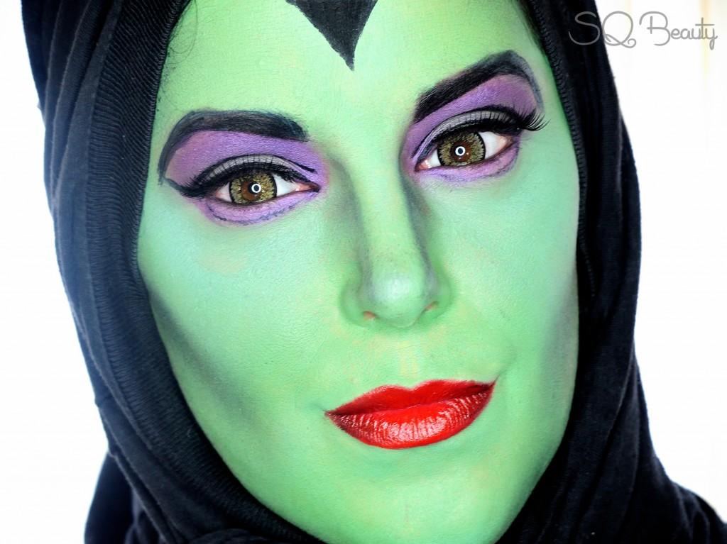 Maquillaje Maléfica dibujos animados