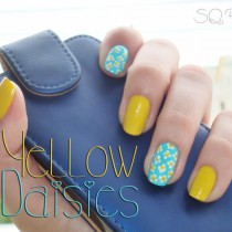 Nail Friday Manicura Margaritas amarillas