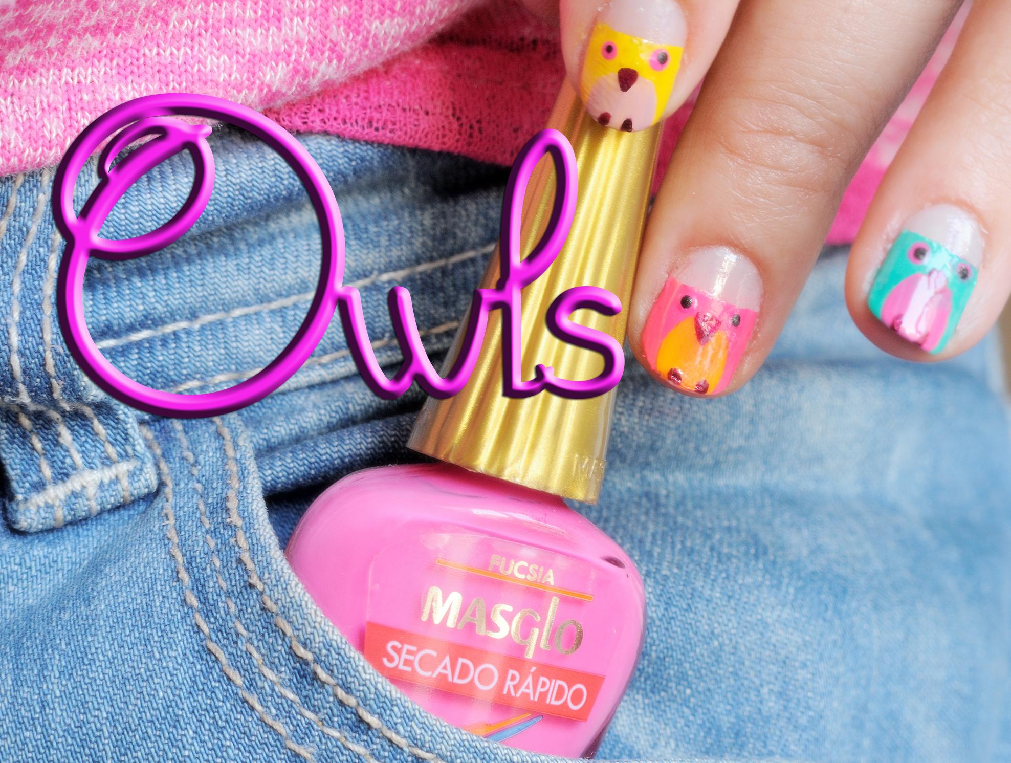 Nail Friday Owl Manicure - Silvia Quirós