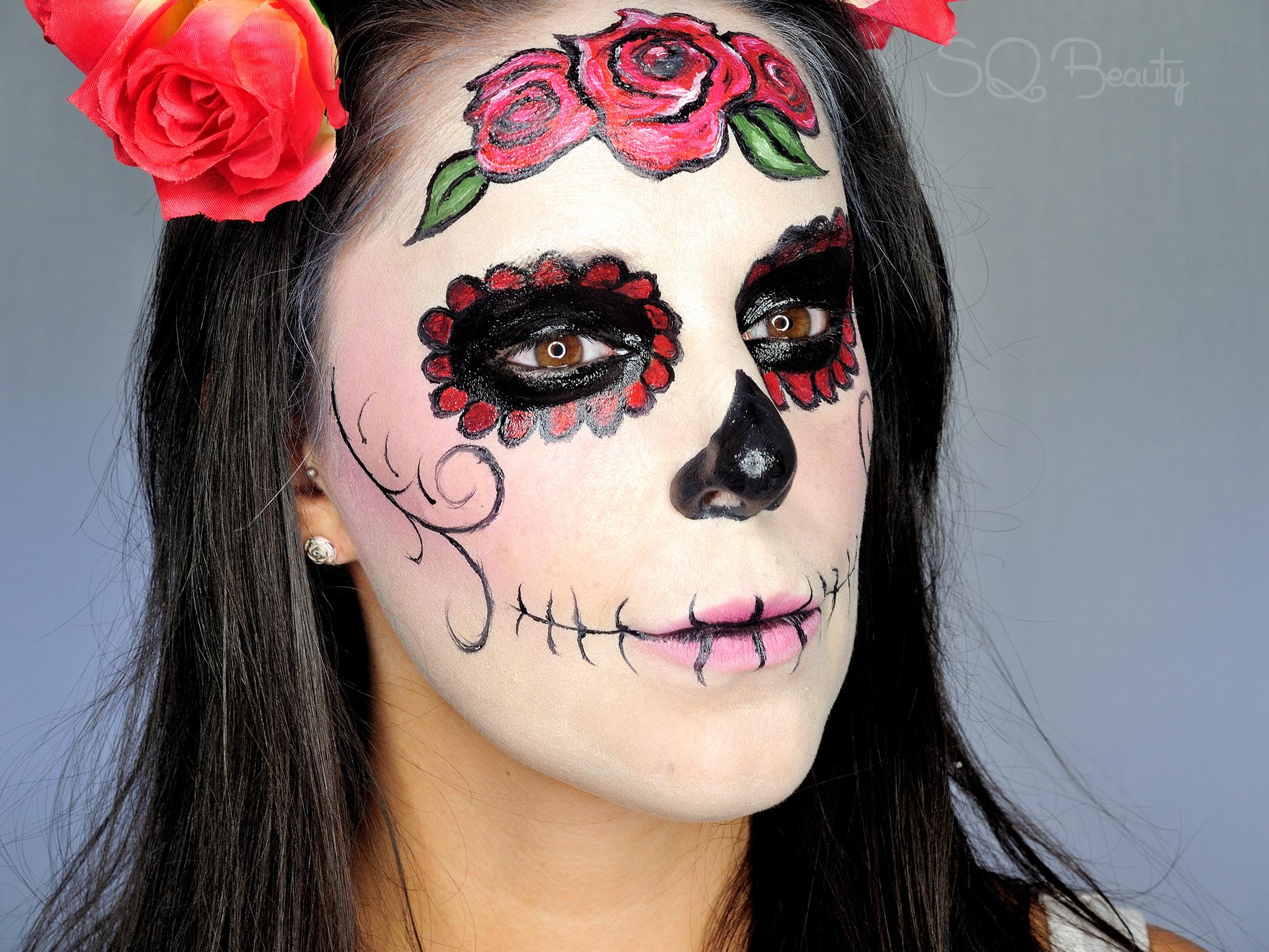 maquillaje halloween catrina elegante - Como Maquillarse En Halloween