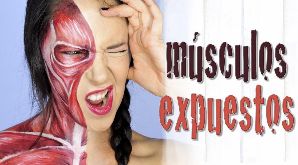 Maquillaje músculos expuestos efectos especiales