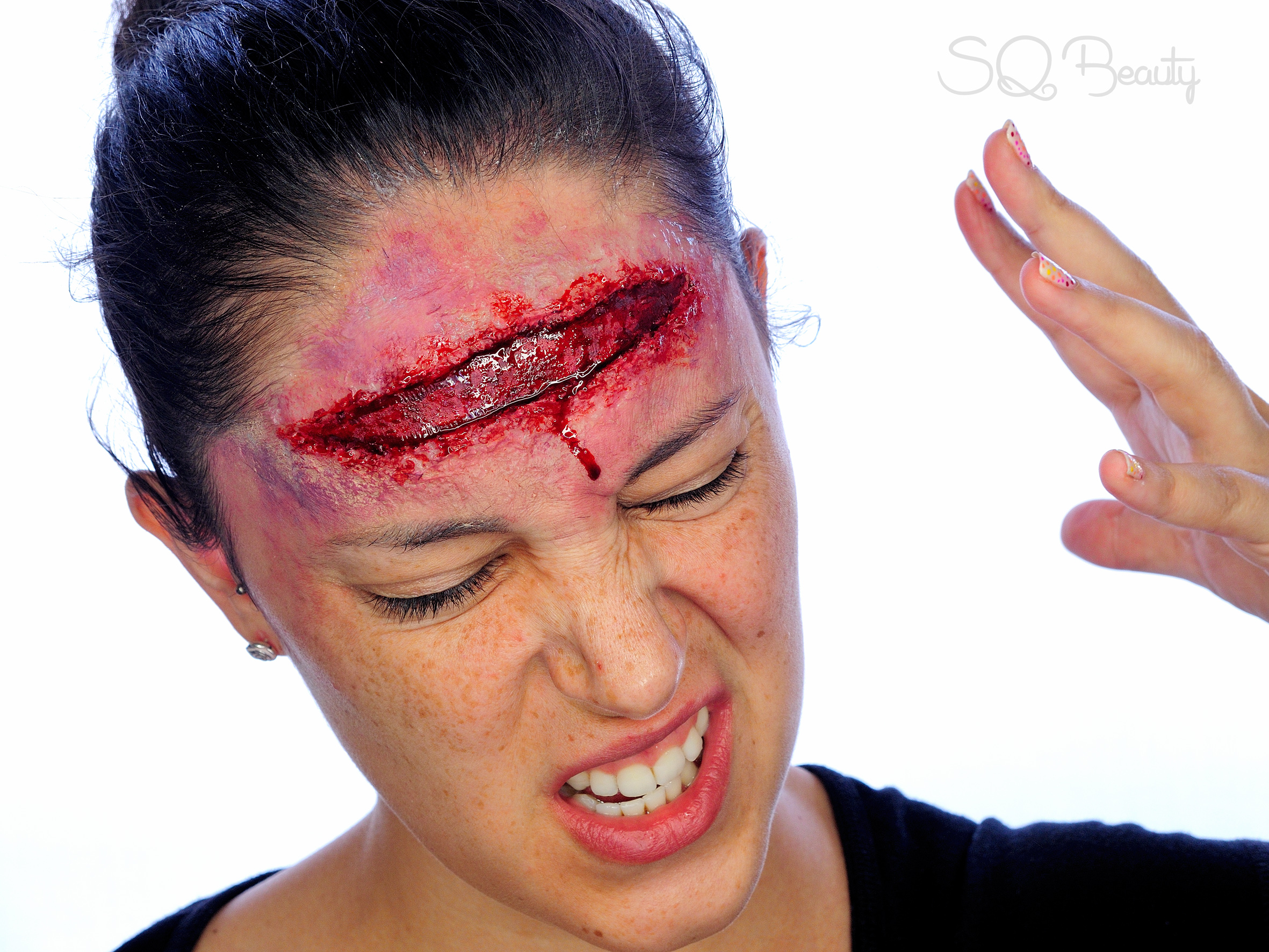 Open Forehead Wound Special Effects Halloween Makeup