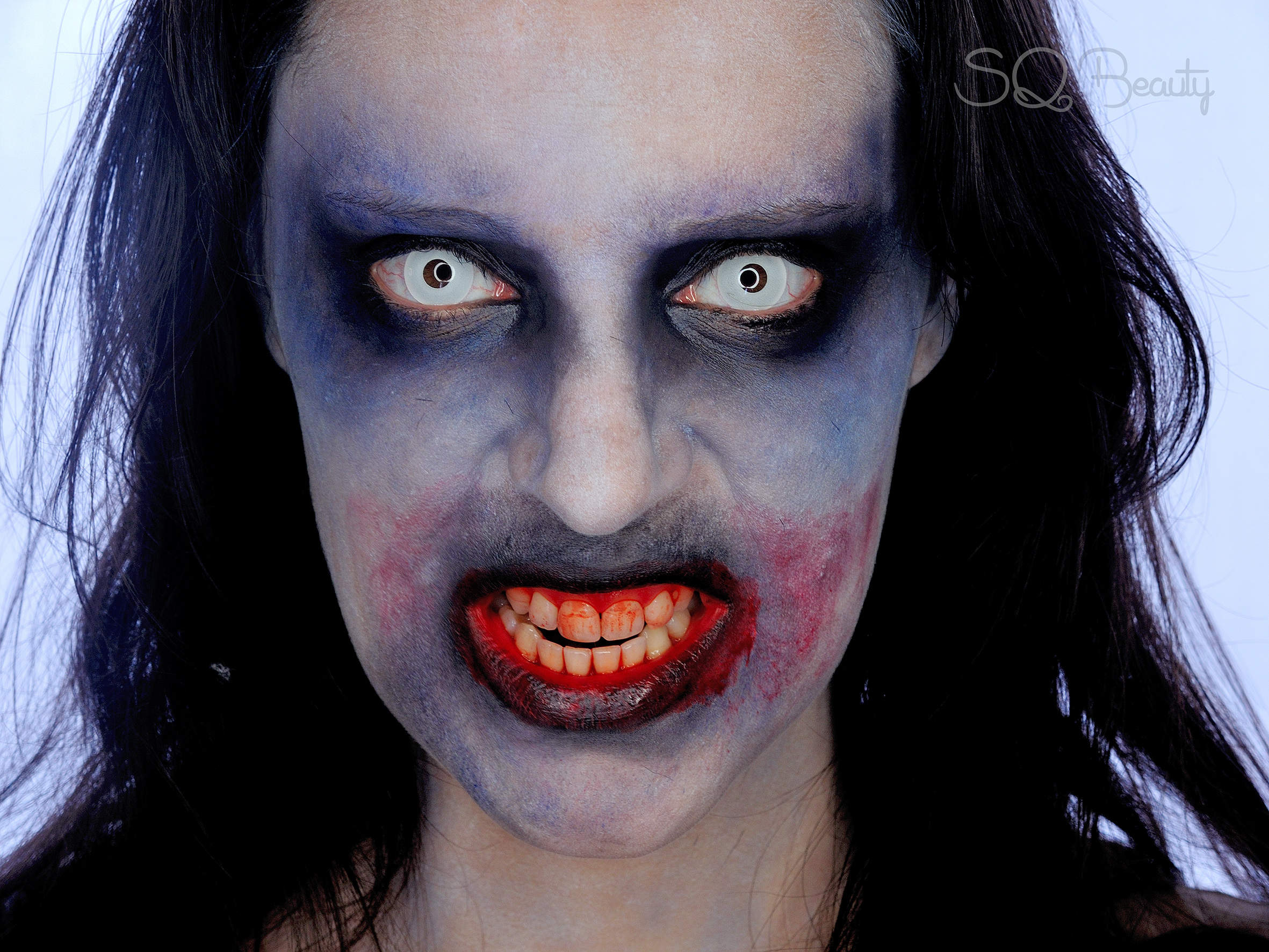easy to do zombie makeup tutorial silvia quir s. Black Bedroom Furniture Sets. Home Design Ideas