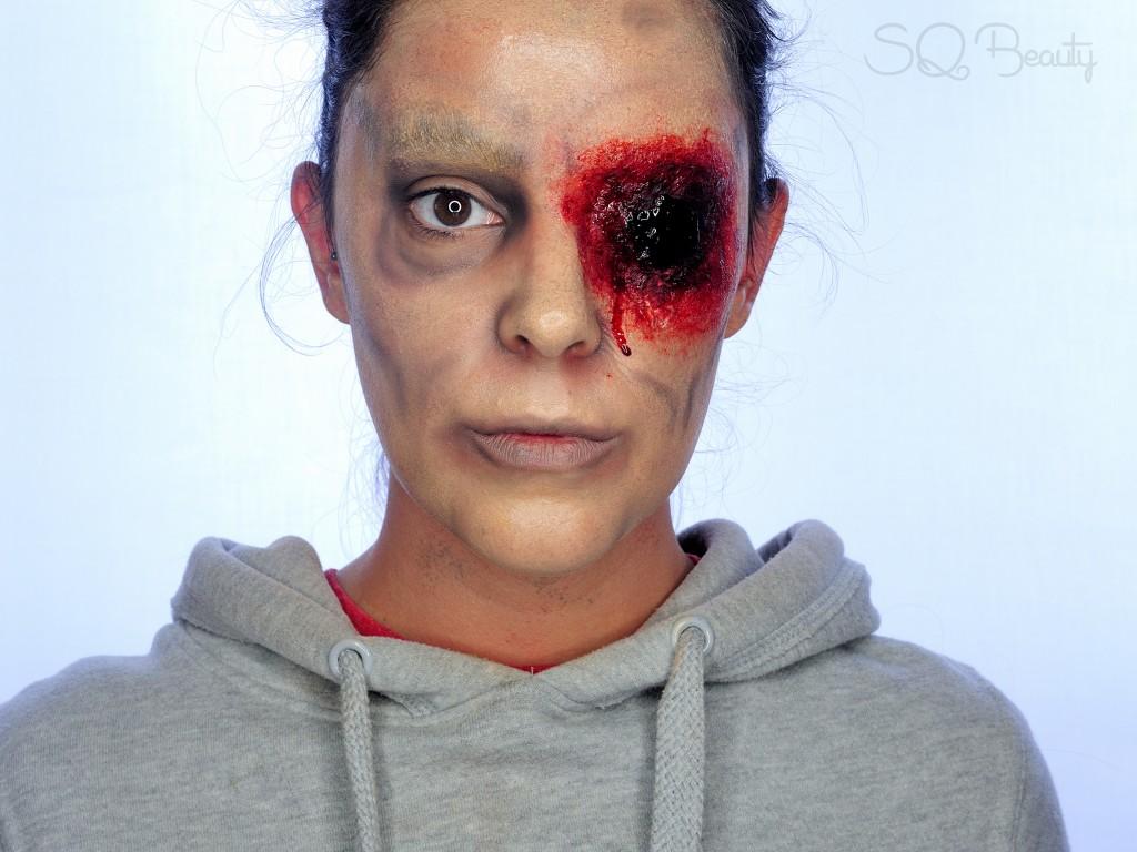 Tutorial Maquillaje Halloween Zombie sin ojo