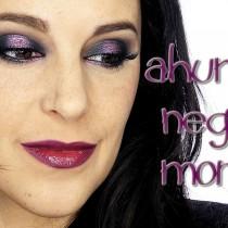 Tutorial Maquillaje intenso negro y morado