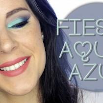 Tutorial Maquillaje Navidad Aqua y azul