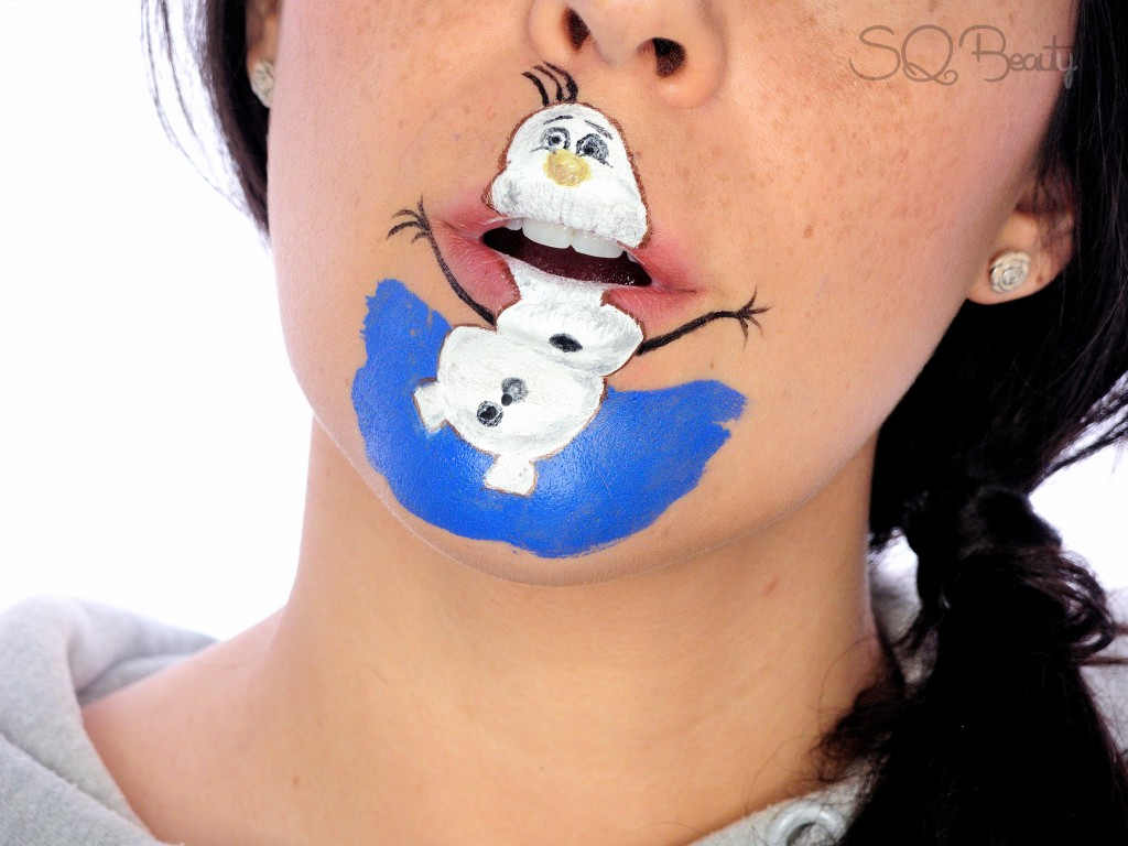 Tutorial maquillaje boca Olaf de Frozen