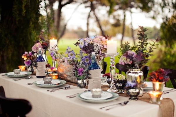 Banquete de una boda bohemia