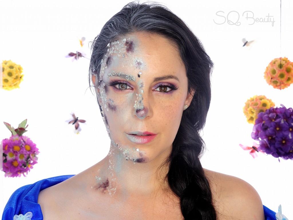 Maquillaje efecto Reina Elsa Congelada