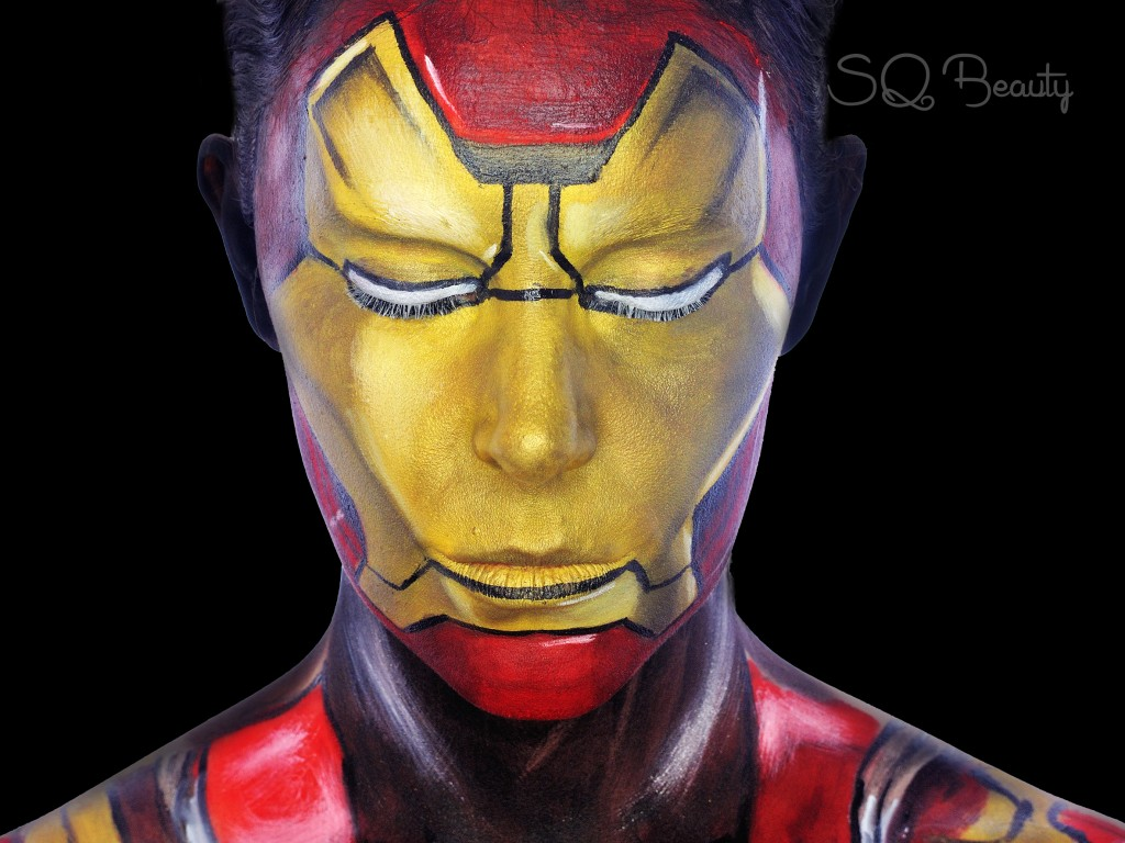 Maquillaje Iron Man en los Vengadores 2