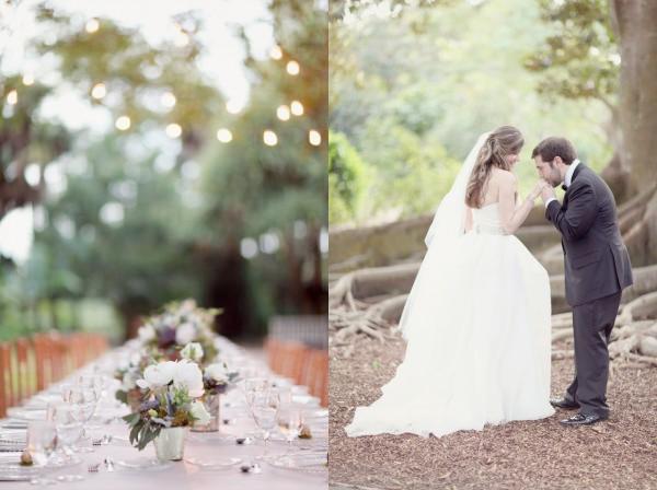 El sitio y detalles de una boda bohemia