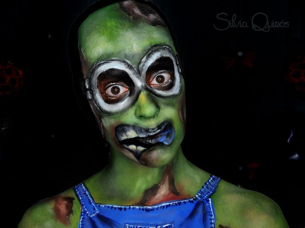 Maquillaje Minion Zombie