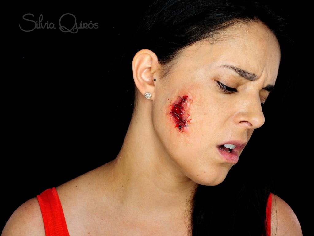Tutorial herida abierta con grapas efectos especiales