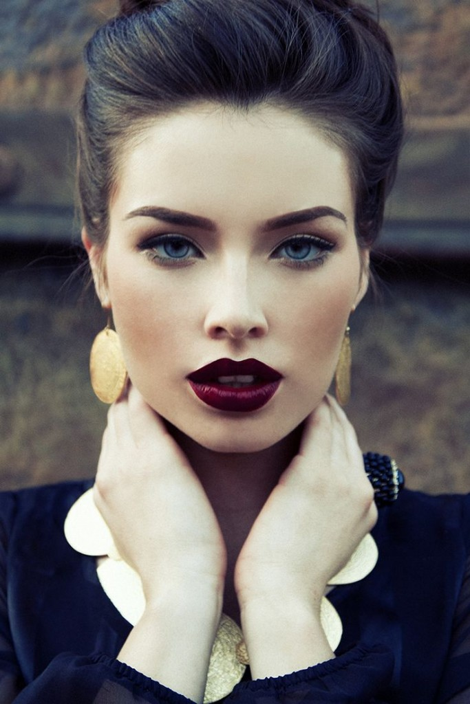 Dark Plum lips fall 2015