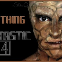 Maquillaje The Thing de los 4 fantásticos