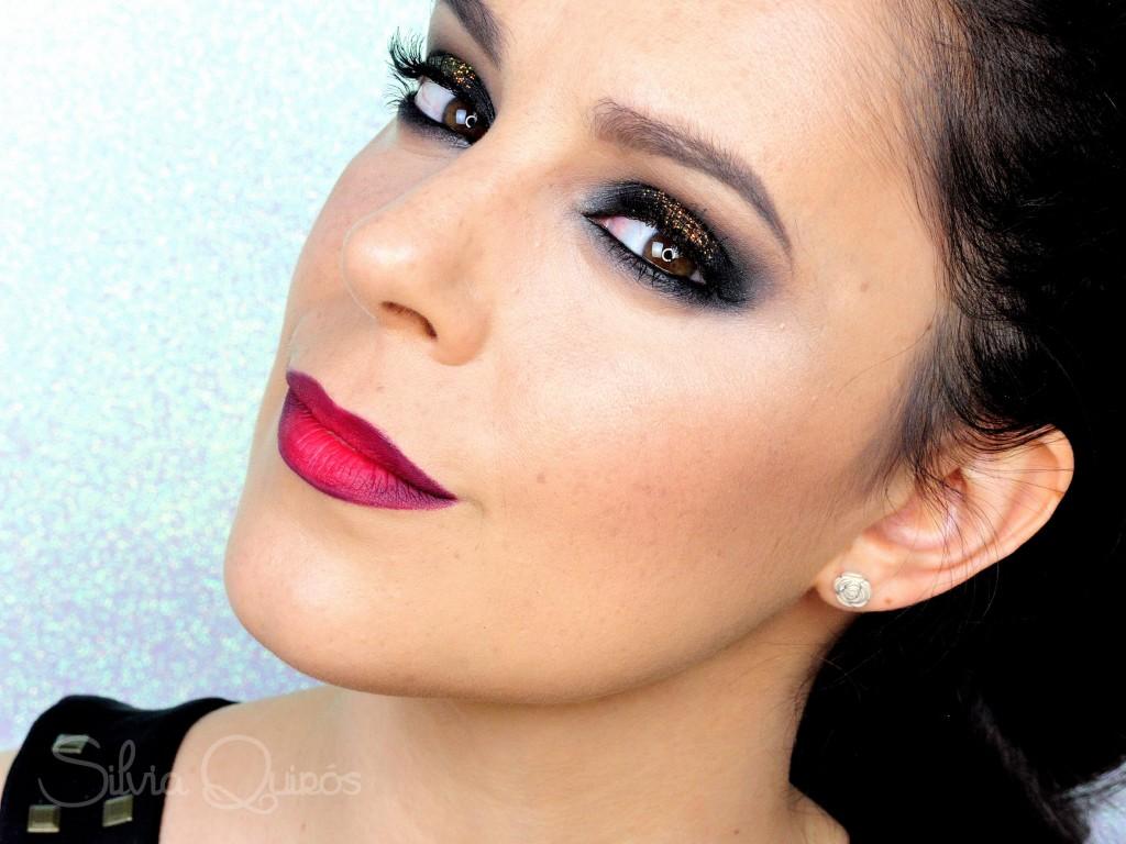 Maquillaje con purpurina para fin de año