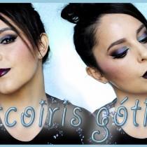 Tutorial maquillaje Arco iris Gótico