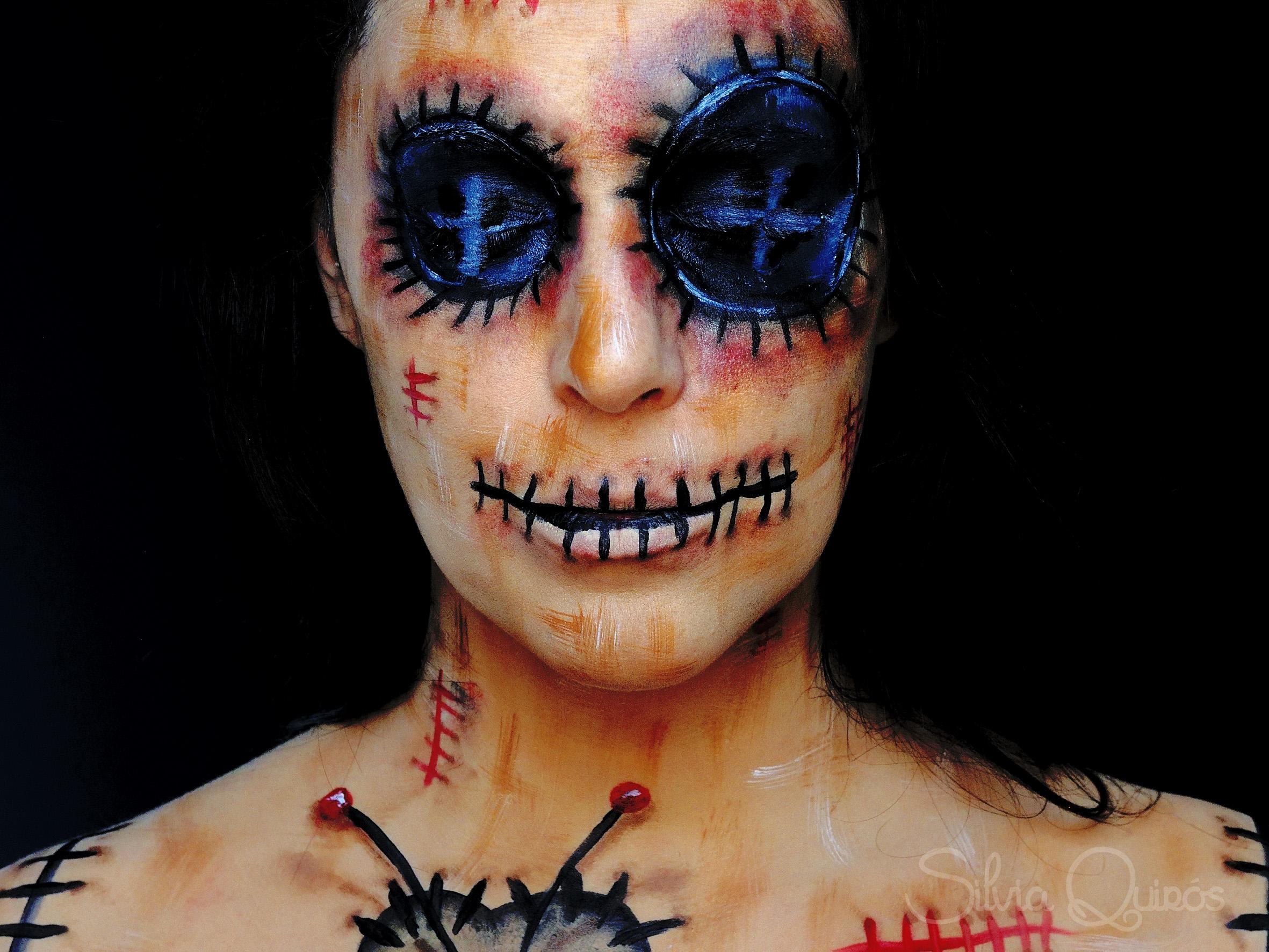 Tutorial maquillaje mueca Vud Silvia Quirs