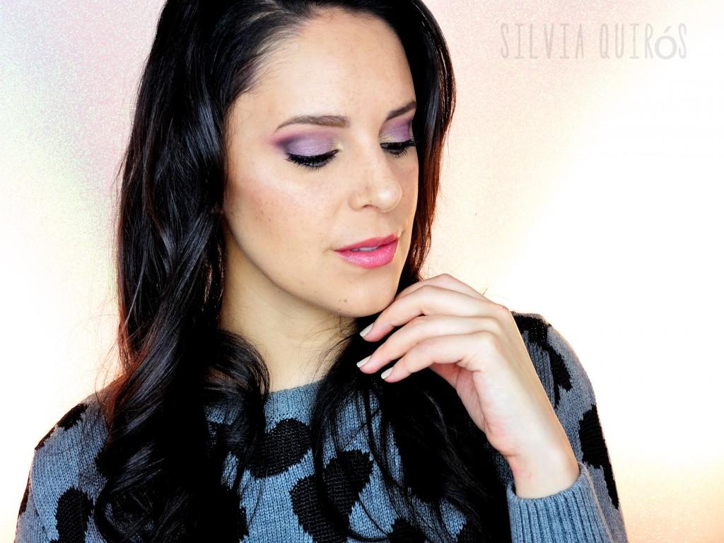 Tutorial maquillaje Lluvia Morada
