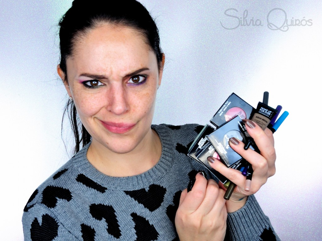 Probando productos de ojos de Make Up For Ever