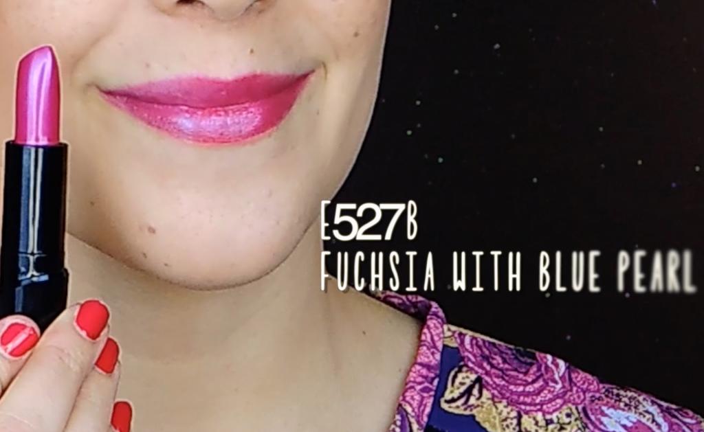 E527B fuchsia with blue pearl