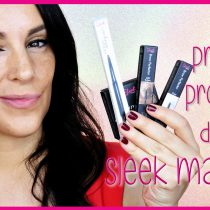 Probando productos de cejas de Sleek Makeup