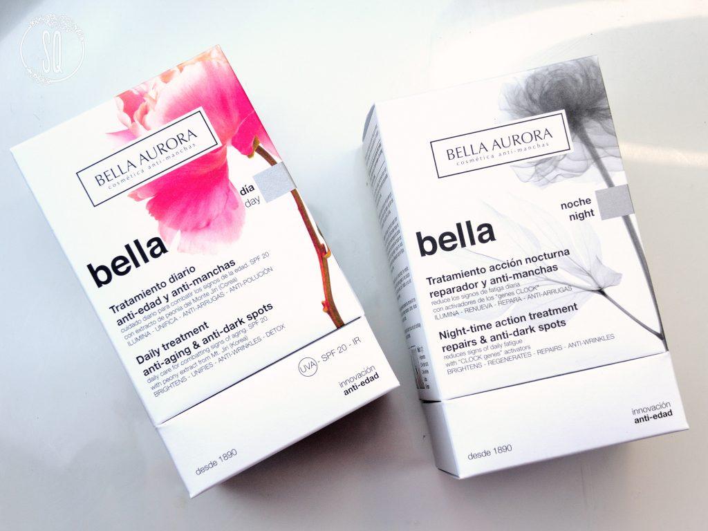 Bella, tratamientos anti manchas y anti edad de día y de noche de Bella Aurora