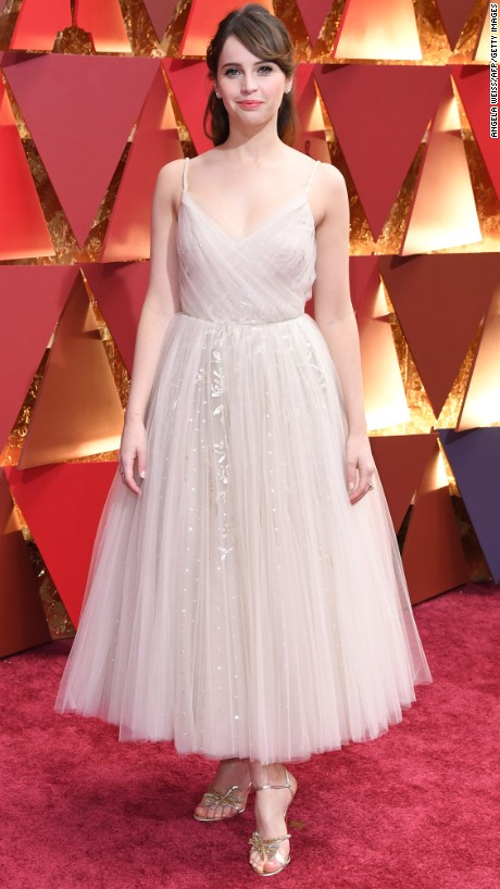 Felicity Jones en Christian Dior Couture