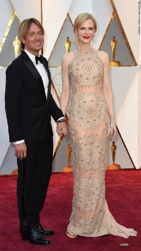 Keith Urban and Nicole Kidman en Armani Privé