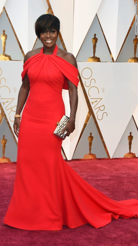 Viola Davis en Custom Armani