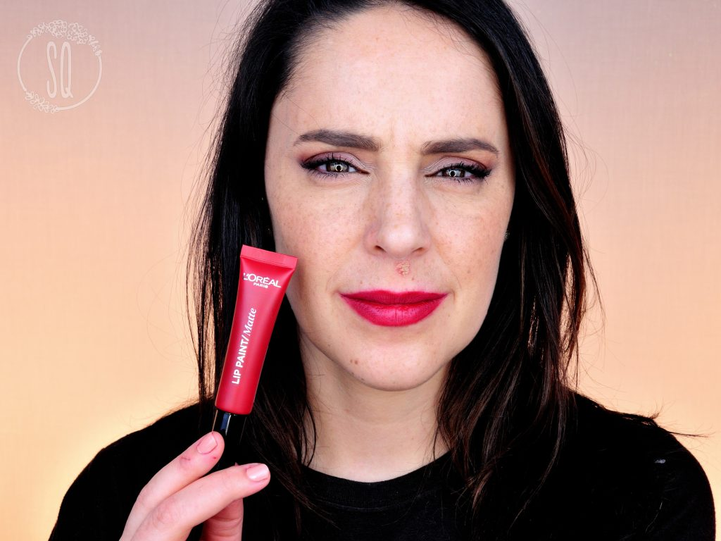 Lip paint matte l'oreal 205 apocalypse red 2