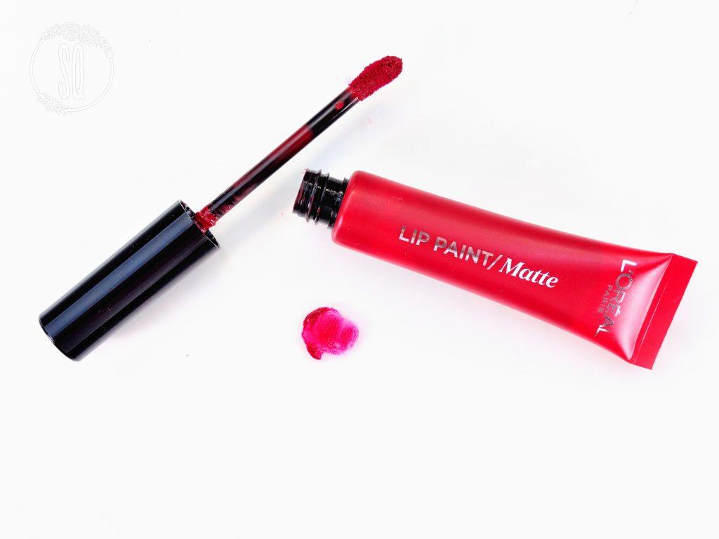 Lip paint matte l'oreal 205 apocalypse red 2