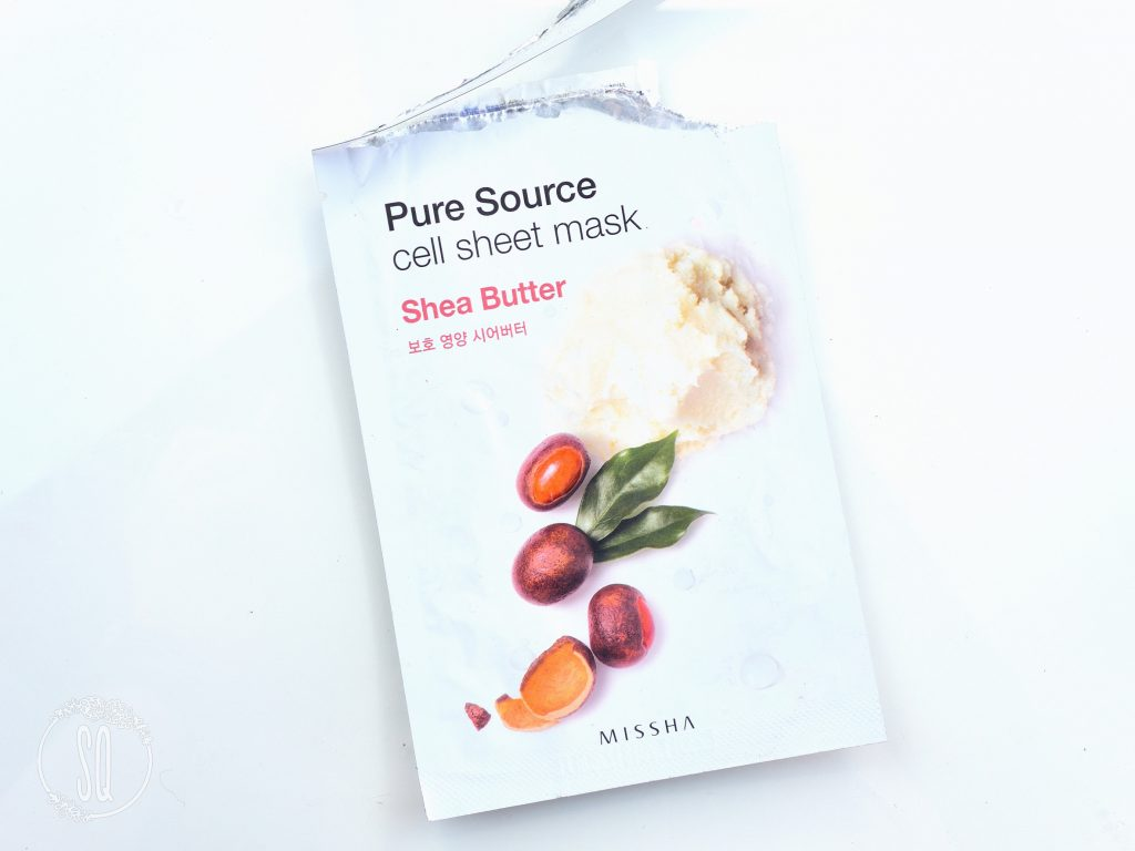 Pure Source cell sheet mask Shea Butter nutrition Missha