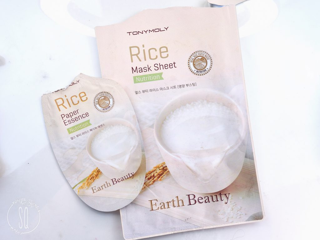 Rice mask sheet nutrition Earth Beauty TonyMoly