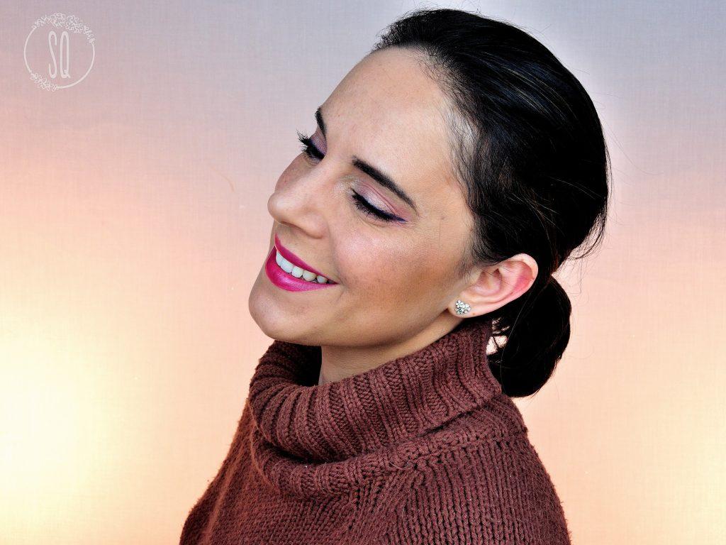 Maquillaje usando 10 productos elegidos al azar