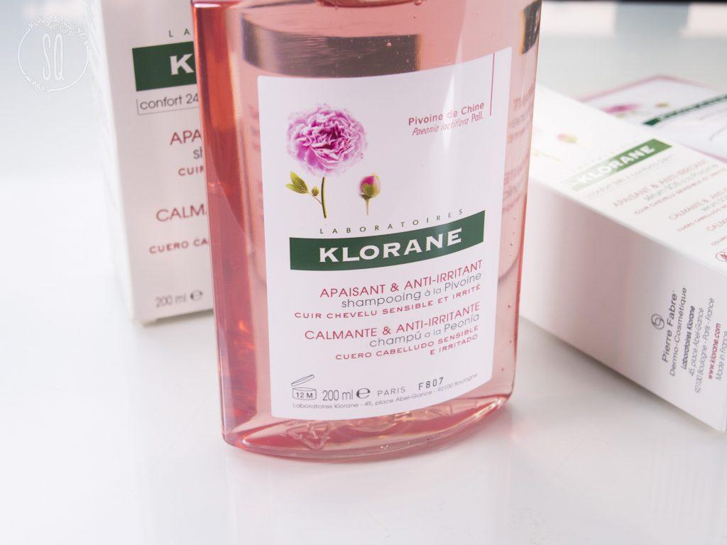 Línea calmante y anti irritante de cabello de Klorane