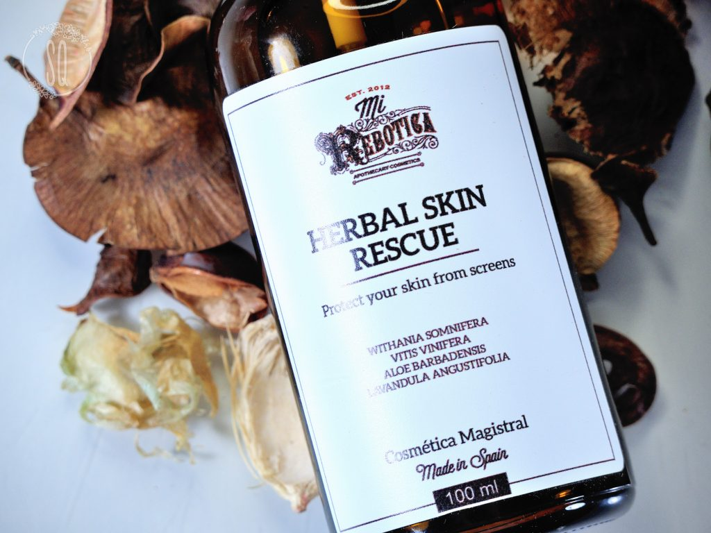 Spray facial protector de radiaciones de Mi Rebotica, Herbal skin rescue