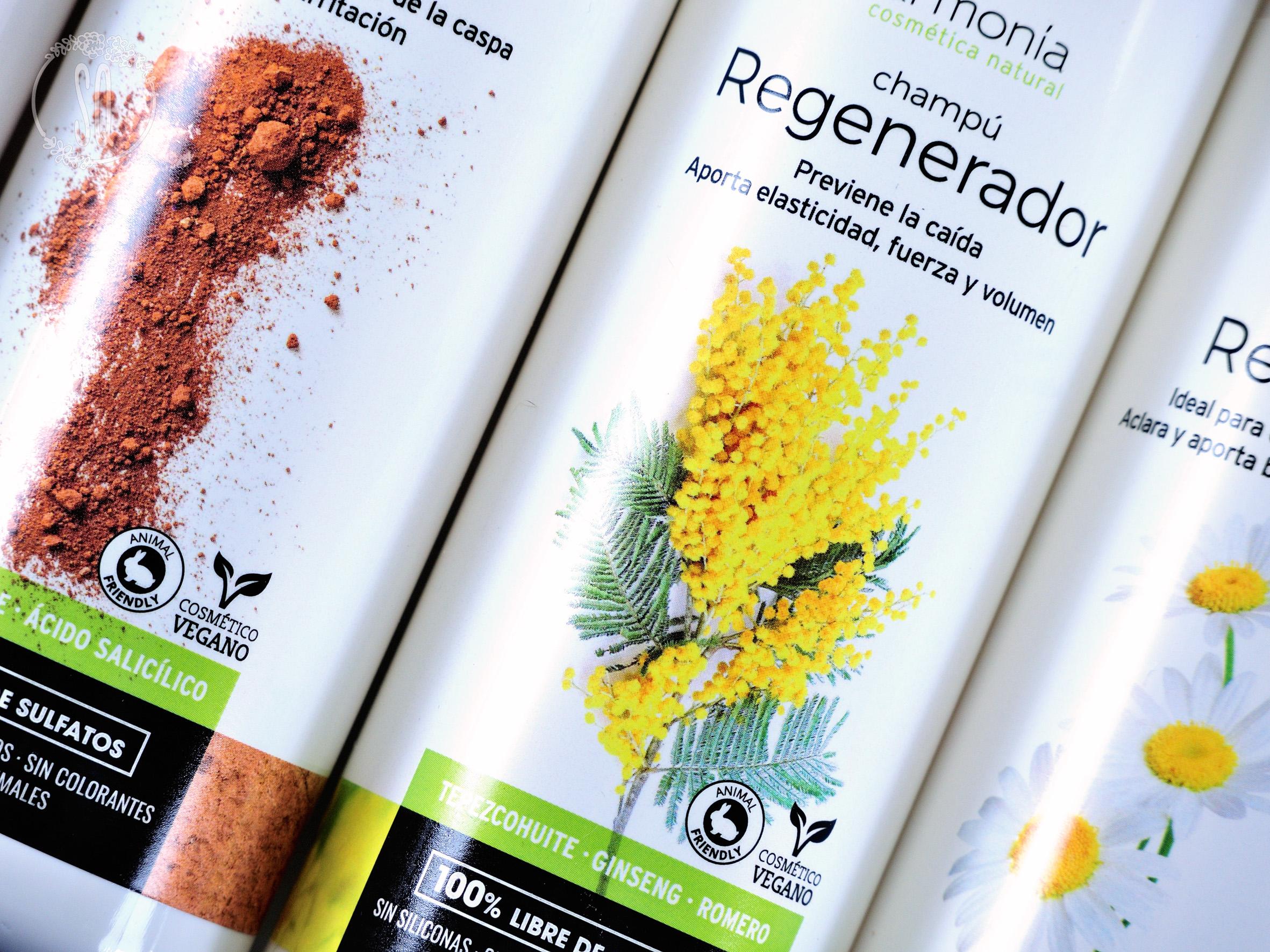 Opciones de champús naturales de Armonia cosmética natural